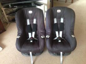 Twin Britax Eclipse Black Thunder Baby car seats