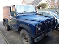 Land rover defender 90 in blue on a m plate 1995