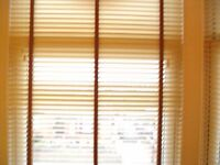 NEW still in box. Wooden venetian blinds cream in colour REDUCED REDUCED BARGAIN