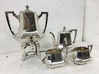 Art Deco Antico Servizio Con Samovar In Sheffield Anni 30 -  - ebay.it