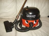 NUMATIC RED HENRY HOOVER 1200W TWIN SPEED WITH HOSE PIPES AND FLOOR HEAD
