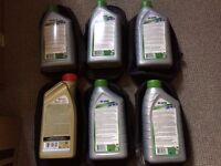 Mobile 1 5W-30 and Castrol SLX engine oils