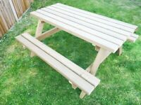 Pub Picnic Bench/ Classic Garden Tables/ Pressure Treated/ FREE delivery Norwich/ 4ft, 5ft and 6ft