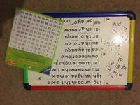 Magnetic A3 whiteboard with magnetic phonic letters & numbers