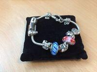 Pandora Silver Bracelet with charms