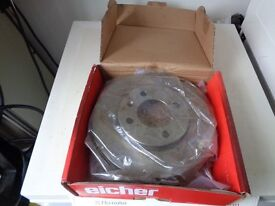 NEW 2000 VW POLO FRONT VENTED BRAKE DISCS X2,NEW STILL IN BOX,239MM DIA,EICHER MAKE