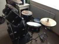 Full Drum Kit and Stool