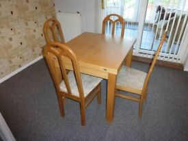 Solid Wood Dining Table, extendable NO CHAIRS