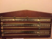 SNOOKER SCOREBOARD, ideal for a games room, man shed or pub decor, in good used condition