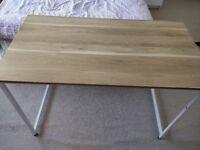 Desk- simple wood and metal design.