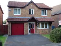 4 Bed Detached house available in quite residential area for £1100 monthly