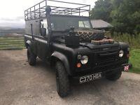 EX MILITARY WAR VETERAN LANDROVER 110 2.5 diesel na