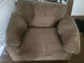 Super comfort brown corduroy Arm chair