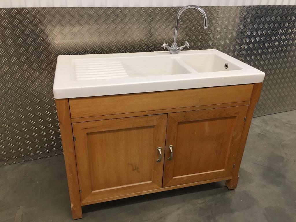 Habitat Olivia freestanding free standing solid Beech kitchen sink unit  laura Ashley John Lewis loaf | in Sutton, London | Gumtree