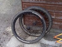 "Alexrim 26"" Wheelset with Specialized Tires"