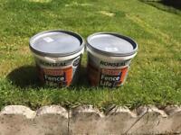Fence paint ronseal red cedar 2x 9 litre buckets