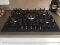 Neff 5 ring gas hob. Black glass. Excellent condition.