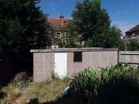 Concrete panelled Garden Shed/ Garage