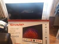 49 inch t.v. Television broken screen