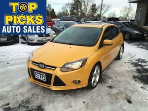 2012 Ford Focus TITANIUM, LEATHER, SUNROOF, NAV, ALLOYS AND MORE
