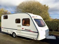 Sprite Firebrand 4 Berth Lightweight Caravan With Fixed Bunks Beds & Motor Mover
