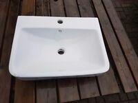 Brand new Bathroom sink / cloak room in white