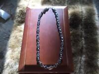 D&G Dolce & Gabbana Designer Necklace Black Metal