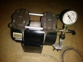 GAST Twin cylinder compressor and vacuum pump