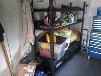 Shelving unit, as new, heavy duty, in homebase for £150, one month old,