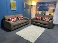 Beautiful John Lewis suite 3 + 2 seater sofas the colour mink