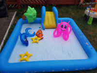 Chad Valley Aquarium Activity Pool - 8.5ft - 308 Litres - Comes With Inflatable Toys
