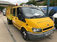 FORD TRANSIT T350 TIPPER CREW CAB, 52REG , FOR SALE