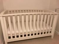 Mamas and papas cot and John Lewis mattress