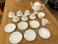 Royal Worcester Silver Jubilee Coffee Set - 6 settings - Superb condition