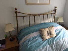 Antique style brass headboard. Kingsize Bed (150cm)