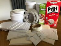 Large bundle of adhesive foam pads & double sided tapes for cardmaking