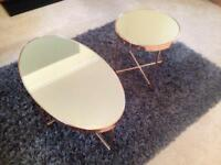 Rose Gold coffee table and side table