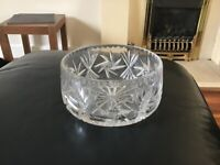 Cut glass fruit bowl and vase