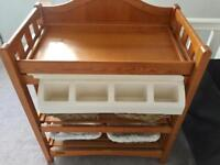 Mamas and papas wooden bath and changing station