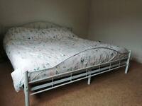 Super Kingsize Metal framed bed
