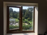 Second Hand uPVC rosewood double glazed windows for sale, good condition