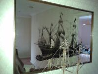 Lovely wall mirror with nautical theme!
