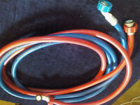 Washing machine hoses hot and cold