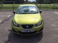 For sale Seat Ibiza 2008,low mileage,cheap insurance,Mot pay till April 2017.very good condition.