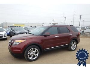 2015 Ford Explorer Limited 4x4 - 57,700 KMs, 7 Passenger SUV