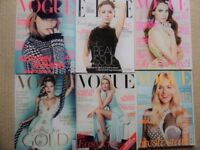 6 VOGUE magazines from 2012 immaculate - mint