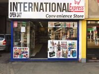 Off licence 24/7 in Huddersfield town centre