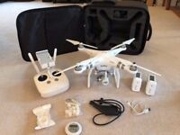 DJI Phantom 3 Advanced | 2x Batteries | Extras