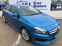 MERCEDES-BENZ A CLASS 2.1 A200 CDI AMG SPORT 5d 136 BHP A GREAT EXAMPLE INSIDE AND OUT (blue) 2014