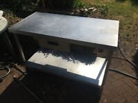 Stainless steel / Catering / Kitchen Worktop / Chefs Table with drawer